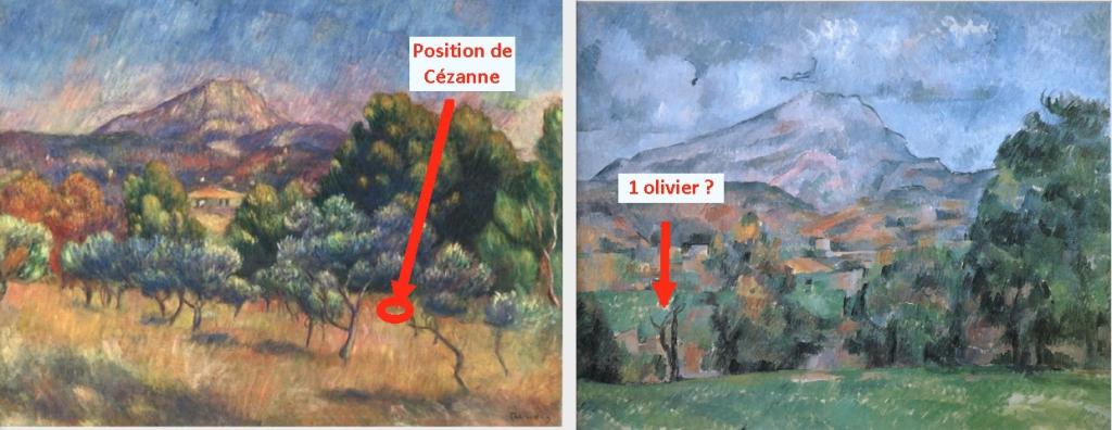 Fig. 33. Renoir et Cézanne dans un champ d'oliviers