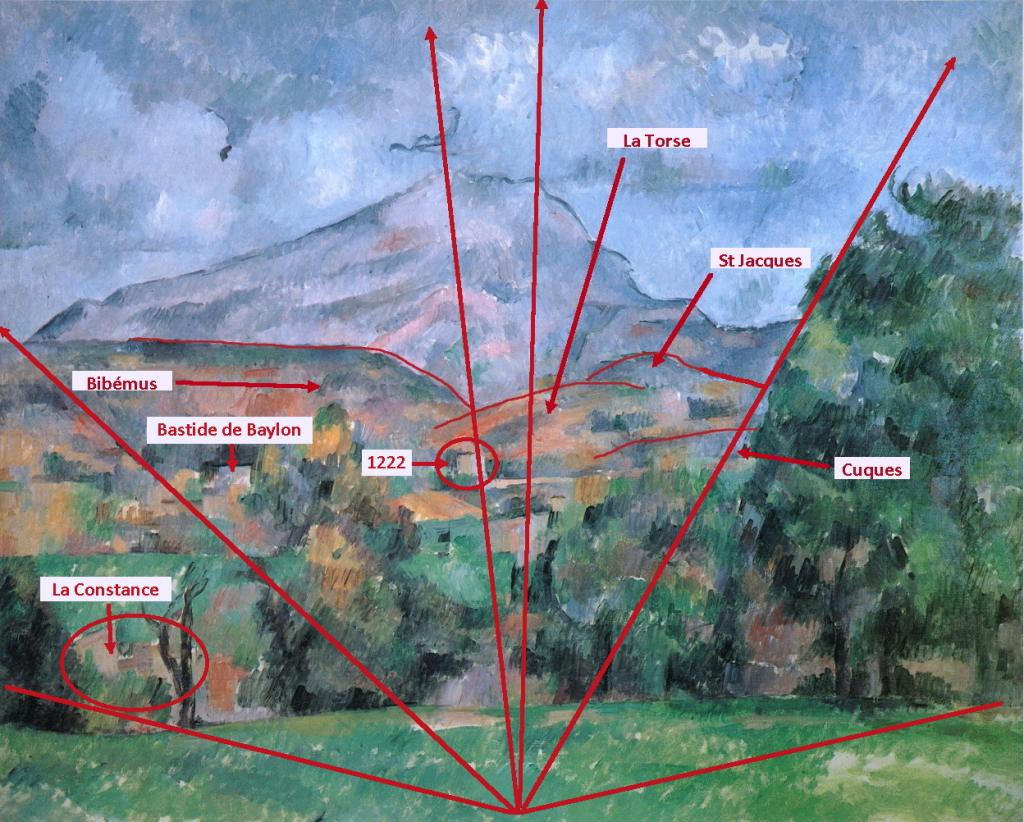 """Fig. 38. R631 La Montagne Sainte-Victoire 88-89 """"interprété""""."""