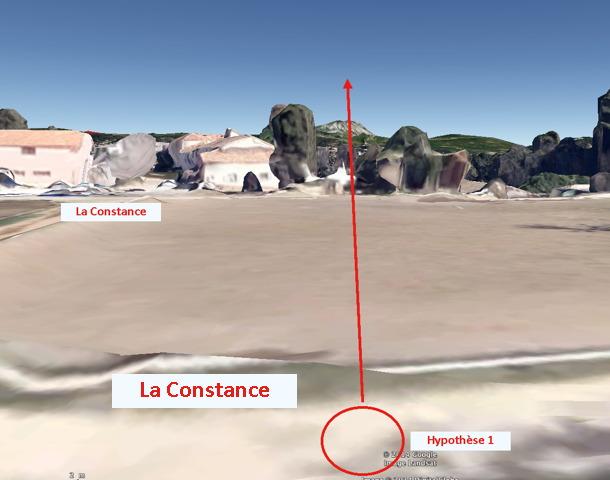 Fig. 45. R608 Hypothèse 1 vue par Google earth au niveau du sol