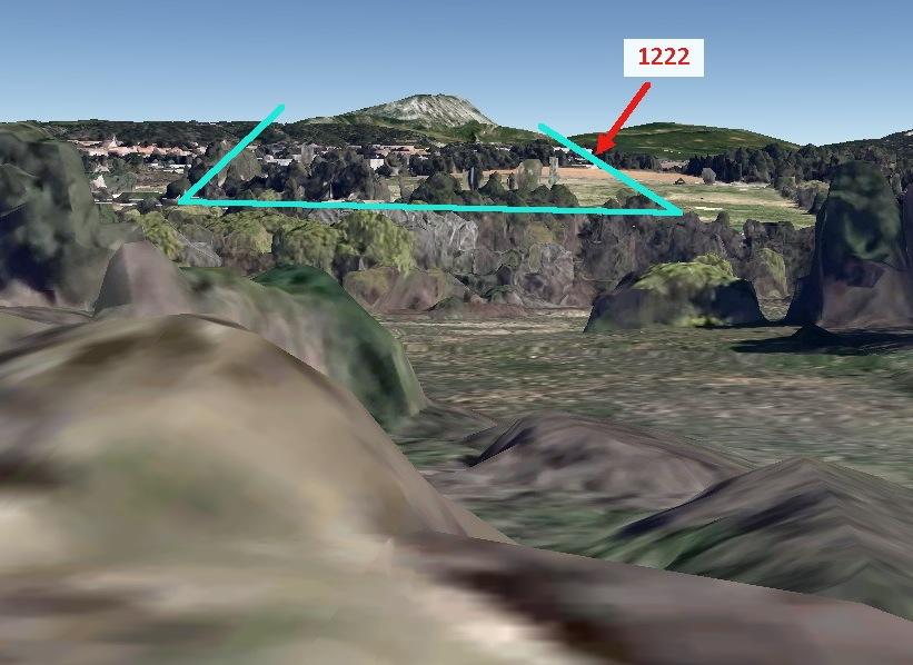 Fig. 47 R608 Hypothèse 2 vue par Google earth au niveau du sol