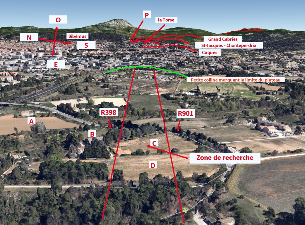 Fig. 62. R397 Report de la zone de recherche en 3D