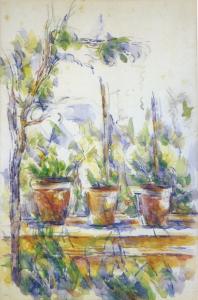 RW618 Trois Pots de fleurs sur la terrasse de l'atelier des Lauves 02-06