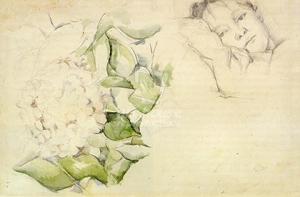 Madame Cézanne aux hortensias, vers 1885, 30,5 x 46 cm, R209 coll. privée
