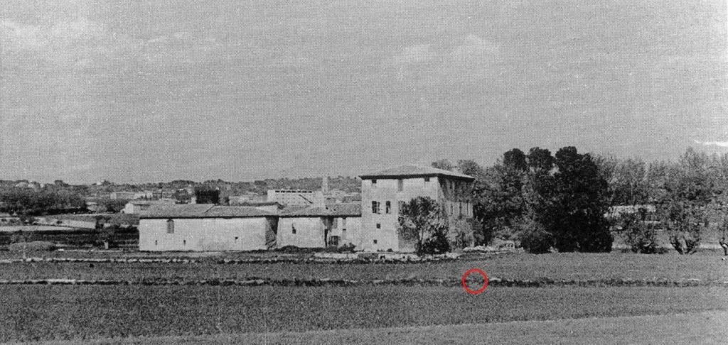 """Fig. 16. """"Propriété proche du Jas de Bouffan"""", vers 1935, John Rewald"""