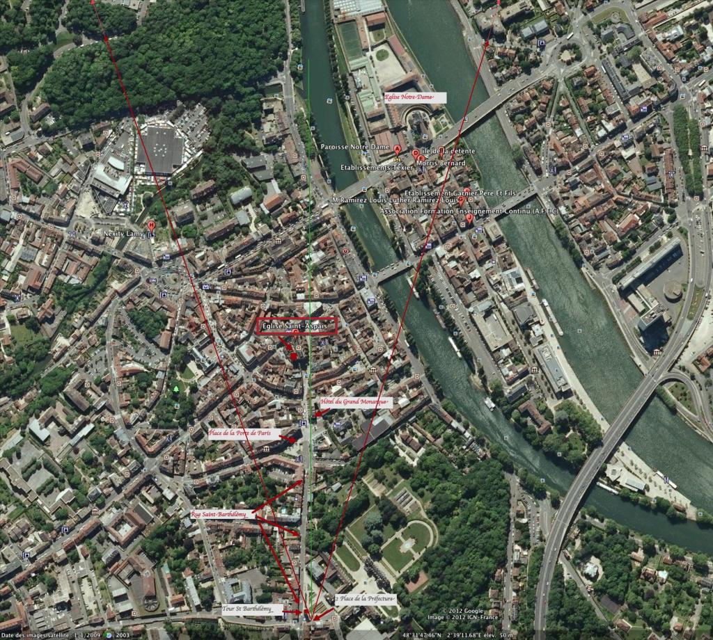 Fig. 1 Vue aérienne du site (Google Earth)