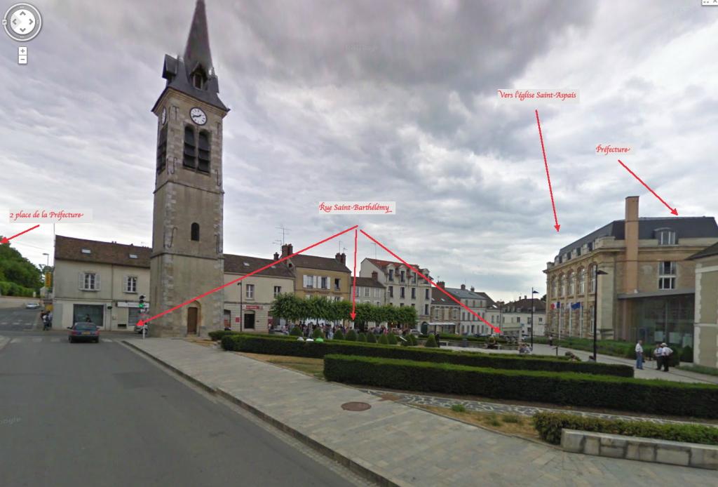 Fig. 11. La Place de la Préfecture (en direction du NE)