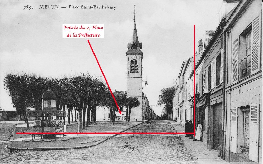 Fig. 19. Vue vers la tour Saint-Barthélémy