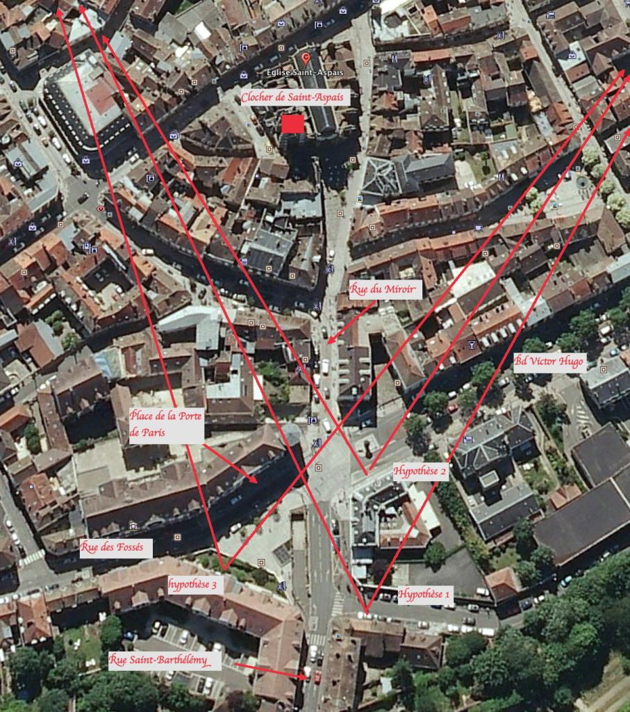 Fig. 2. Vue aérienne de la Place de la Porte de Paris (Google Earth)