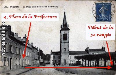 Fig. 23. Début de la 5e rangée face au 4, Place de la Préfecture