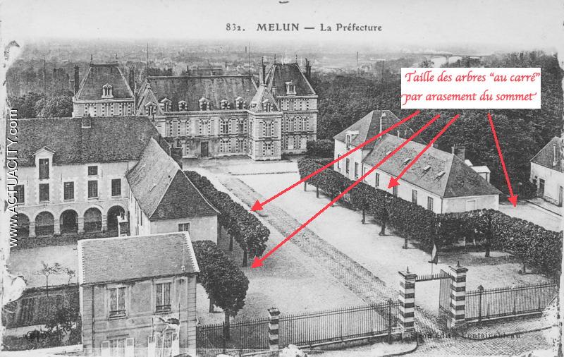 Fig. 37. La cour d'honneur de la Préfecture vers 1880