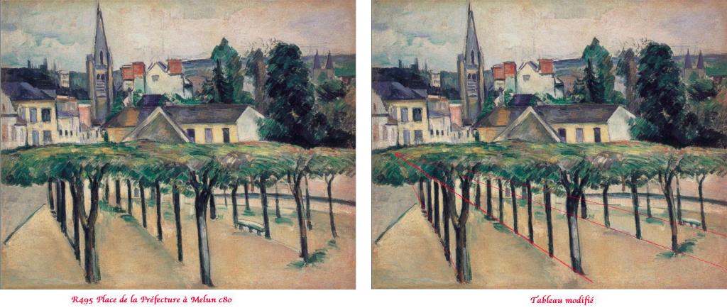 Fig. 45. Les modifications apportées par Cézanne à la géométrie des lieux
