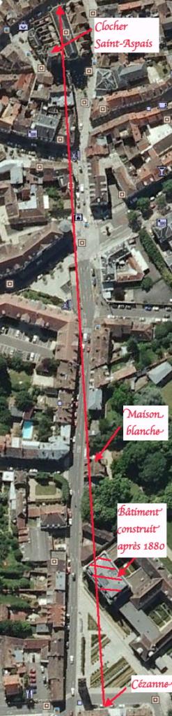 Fig. 49. Situation de la maison blanche rue Saint-Barthélémy