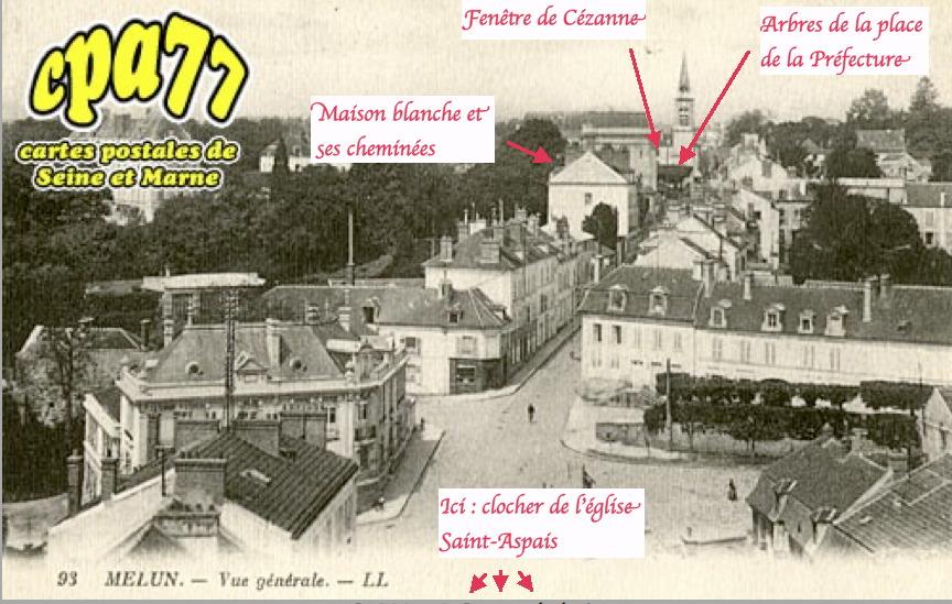 Fig. 50. La maison blanche vue du clocher de Saint-Aspais