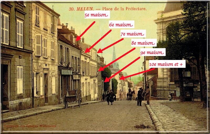 Fig. 58. Les maisons 5 à 10 de la rue Saint-Bathélémy, autrefois…