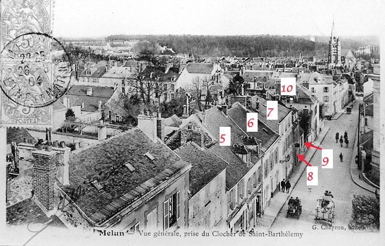 Fig. 60. Vue aérienne des toits des maisons 5 à 11, autrefois…