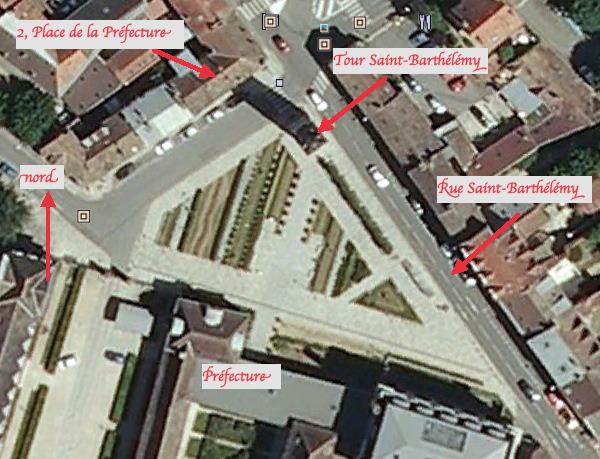 Fig. 9. Vue aérienne de la Place de la Préfecture
