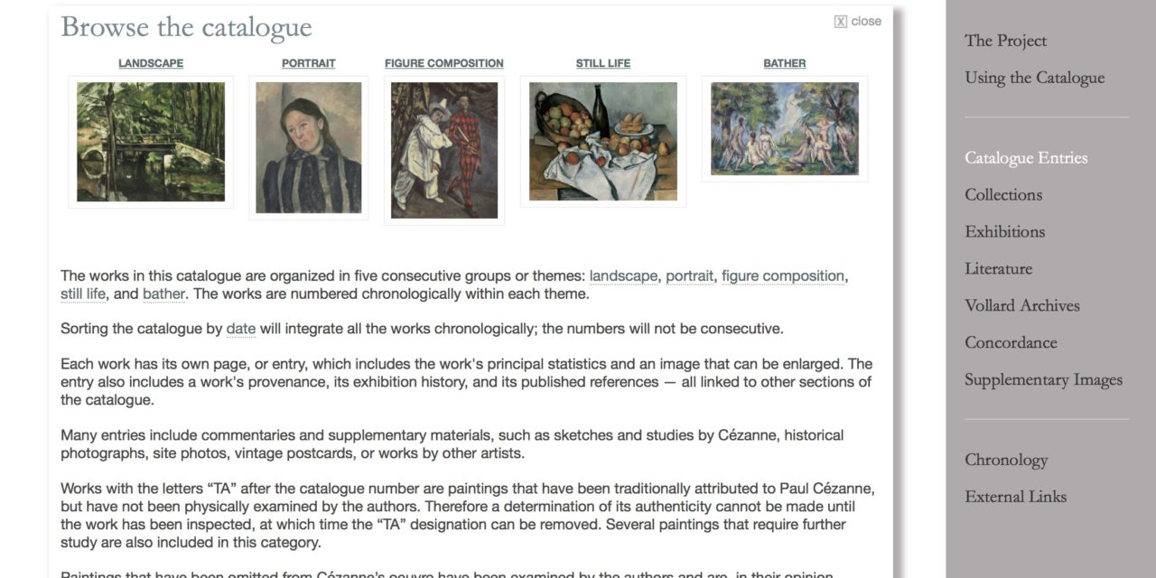 The Paintings of Paul Cezanne – An online catalogue raisonné