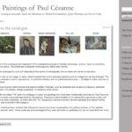 The Paintings of Paul Cezanne – An online catalogue raisonné
