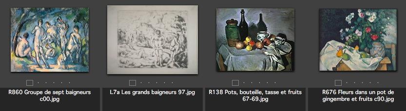 Les 4 oeuvres de Cezanne exposées