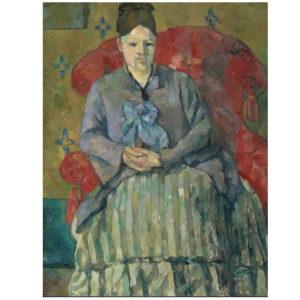 Madame Cézanne à la jupe rayée 1877 Huile sur toile 72.5 x 56 cm Museum of Fine Arts, Boston