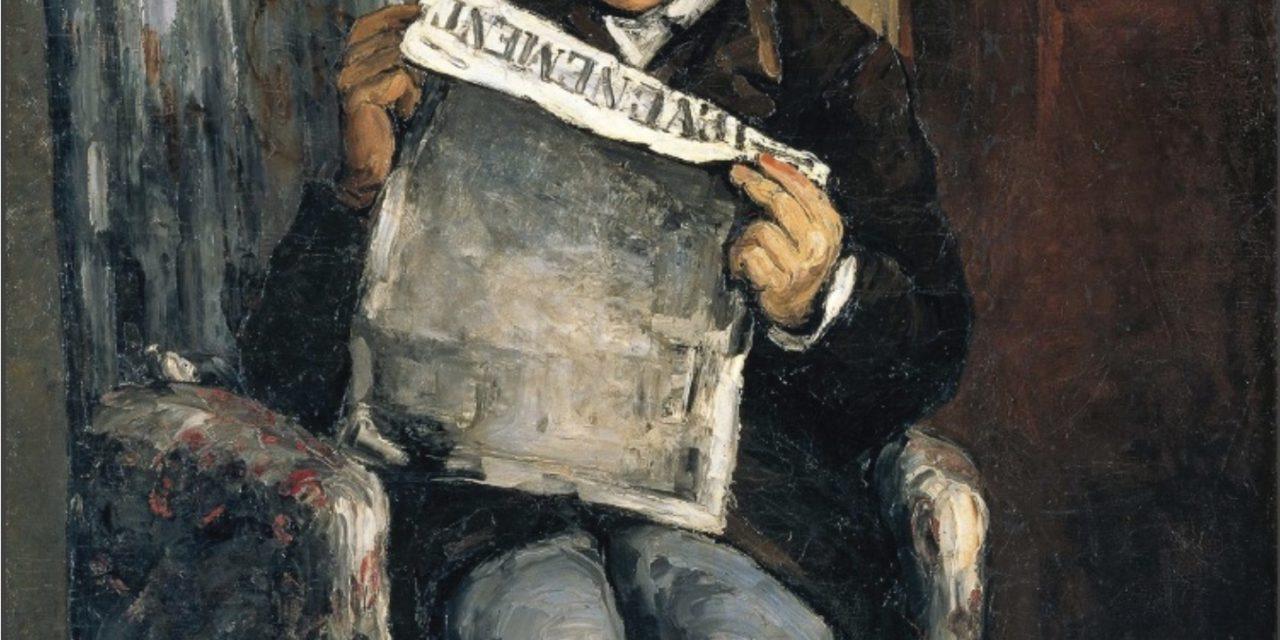 Louis-Auguste Cezanne, père de l'artiste, lisant L'Événement (Jean Arrouye)
