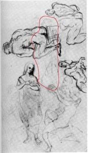 Fig. 36. 1860-65 Étude de personnages C0057g Esquisse de Héra