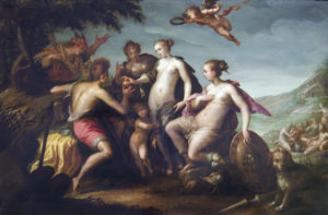 Fig. 25. 1588 Hans von Aachen Le jugement de Paris, Douai, Musée de la Chartreuse