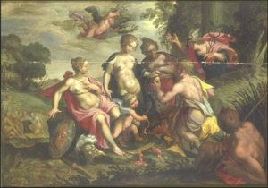 Fig. 28. Vers 1600 Anonyme d'après Hans von Aachen Huile sur bois 74,8x105,3 Valenciennes, Musée des Beaux-Arts