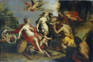 Fig. 29 Vers 1600 Entourage de Hans Von Aachen huile sur panneau 56,2 x 37,7 cm. Christie's et Sotheby's