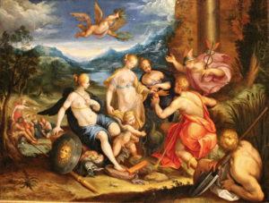 Fig. 30. Vers 1600 Entourage de Hans von Aachen, Huile sur cuivre, 38,7 x 50,5 cm Graz, Landesmuseum Joanneum