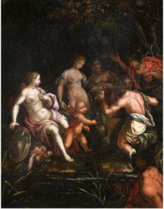 Fig. 31. Vers 1600 Ecole praguoise, suiveur de Hans von Aachen 50 x 39 cm Vente galerie