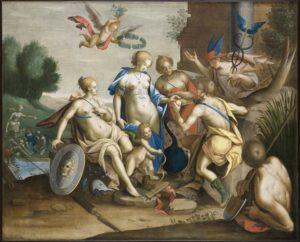 Fig. 32. Vers 1615 D'après Hans von Aachen Jugement de Pâris - Bayeux, musée d'art et d'histoire Baron-Gérard (MAHB)