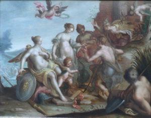 Fig. 33. Vers 1615 Entourage de Hans Von Aachen Le jugement de Pâris - Galerie Acanthe