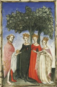 Fig. 6.Vers 1415, L´Epistre dOthea by Christine de Pisan fol. 34v. Paris, Bibliothèque nationale de France