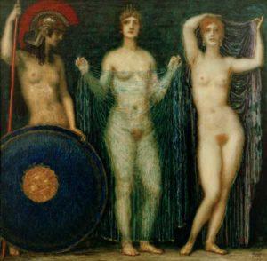 Fig. 64. Vers1890 Franz von Stuck, Die Drei Göttinnen Athena, Hera, Aphrodite