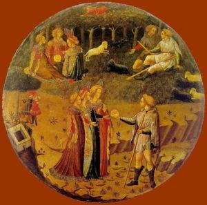 Fig. 7. 1430-40, Maître du Jugement de Paris (actif entre 1430 et 1440 à Florence), tempera sur bois, 70 cm, Museo Nazionale di Bargello, Florence