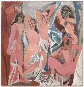 Fig. 78. 1907 Picasso-Les demoiselles d'Avignon
