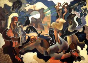 Fig. 82. 1928 Baranov-Rossiné, Le Jugement de Pâris huile sur toile 95 x 128 cm
