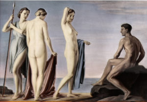 Fig. 85.1939 Adolf Ziegler - Jugement de Pâris Grande exposition de l'art allemand 1939