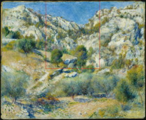 L'Estaque - Rocky craggs at l'Estaque 1882 66x81cm oil/canvas Museum of Fine Arts, Boston