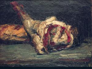 XIR51693 Pain et Gigot d'agneau Vers 1865 Huile sur toile 27 x 35,5 cm Zurich, Kunsthaus Zürich