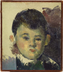 Fig. 5. Portrait du fils de l'artiste FWN456-R464 Oil on canvas ca 1877 17 x 15 cm