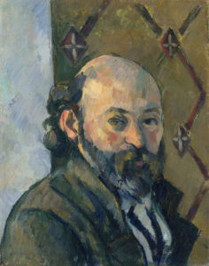 Fig. 7. Portrait de l'artiste au papier peint olivâtre FWN462-R482 Oil on canvas 1880-1881 33.6 x 26 cm