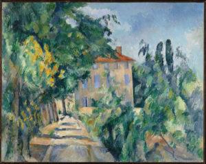 Maison au toit rouge (Jas de Bouffan) 1887-1990 Huile sur toile 73 x 92 cm Collection particulière