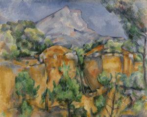 La Montagne Sainte-Victoire vue de Bibémus FWN315-R837 Vers 1897 Huile sur toile 65 x 81 cm Baltimore, Baltimore Museum of Art