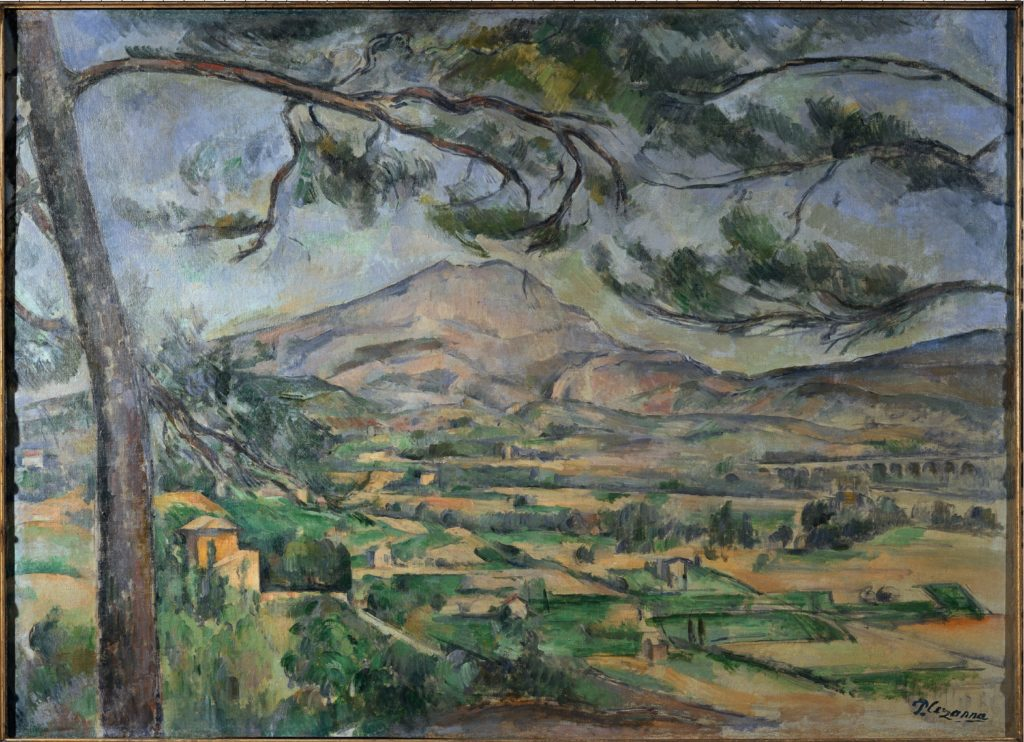 La Montagne Sainte-Victoire au Grand Pin 1887. huile sur toile : 66 x 90 cm Londres, Courtauld Institute Galleries Don Courtauld (cat. Rewald R599 cat. FWN 215)