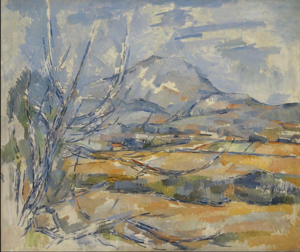 La Montagne Sainte-Victoire 1900-1902 ; huile sur toile, 54,6 x 64,8 cm Edinburg, national Gallery of Scotland, R901