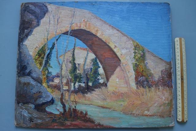 Cyrille Rougier, Le Pont des Trois Sautets (petit format, collection privée).