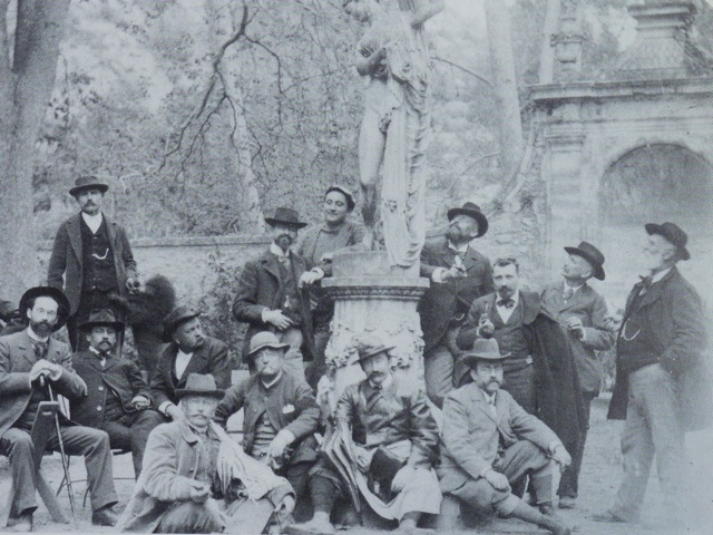 Les petits maîtres d'Aix à la belle époque, photographie en couverture du livre de Franck Baille.