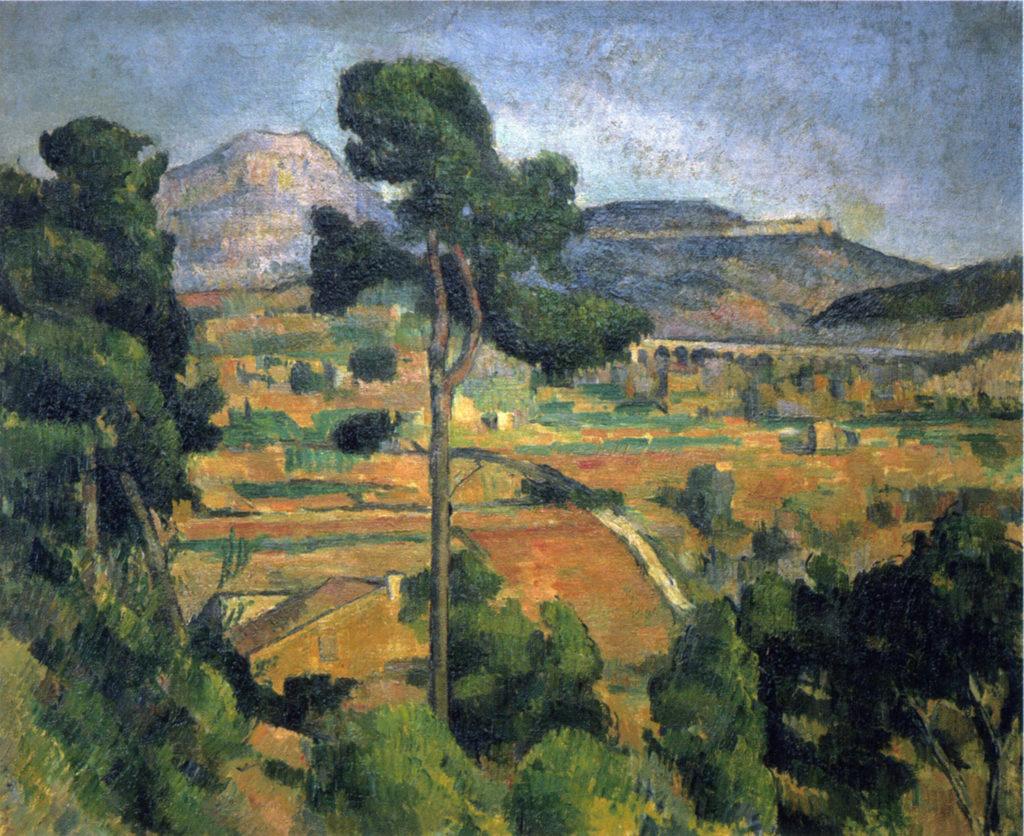 La Montagne Sainte Victoire vue de Montbriand 1882 environ, huile sur toile ; 48 x 59 cm Collection privée (cat. Rewald R512 ; cat FWN 184)